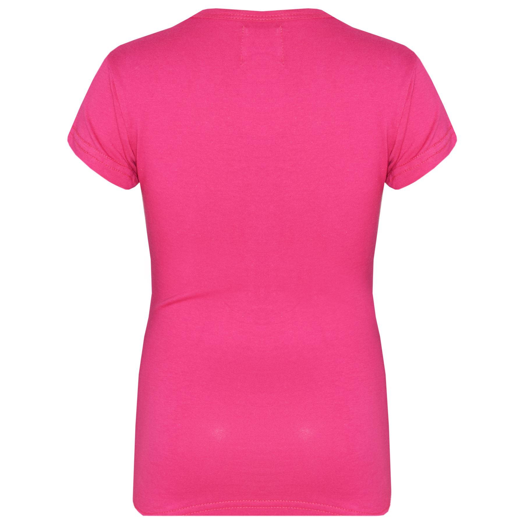Kids Girls T Shirts Designer 100/% Cotton Plain School T-Shirt Top New Age 3-13Yr