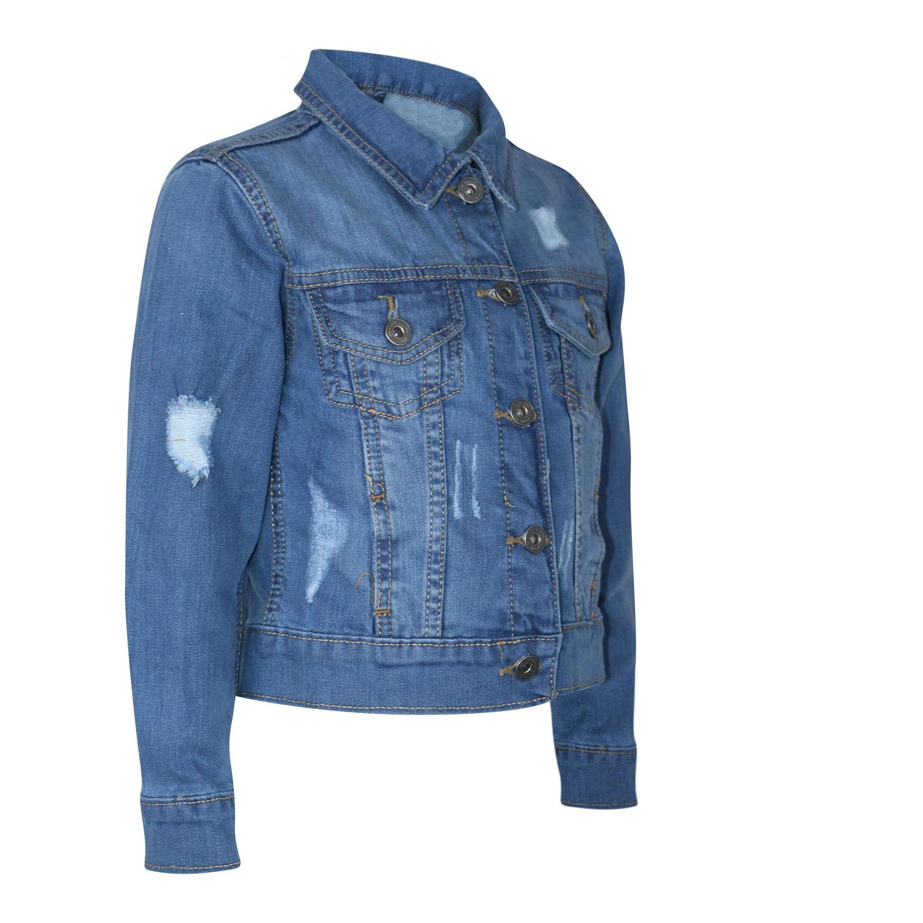 Kids Boys Denim Jacket Designer Ripped Jeans Fashion Jackets Coat Age 3-13 Years
