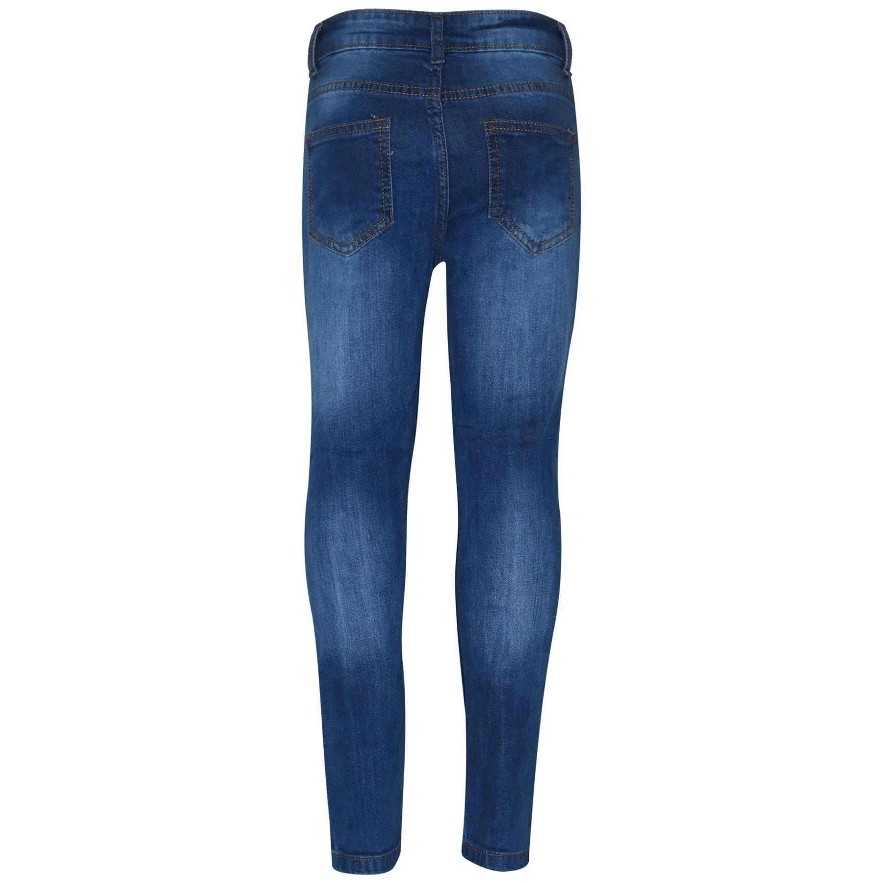 Kids Boys Skinny Jeans Denim Knee Ripped Slim Stretchy Bikers Pants Trouser 5-13