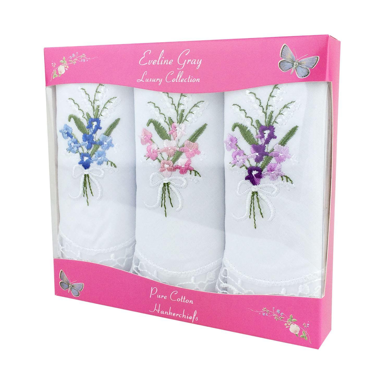 Women/'s//Ladies Handkerchiefs 100/% Cotton Various Colours /& Styles