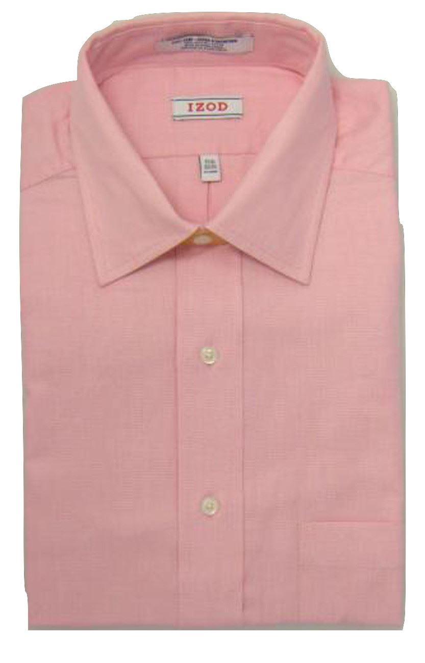 Mens Shirt IZOD Regular Fit Pure Cotton Easy Iron Long Sleeve
