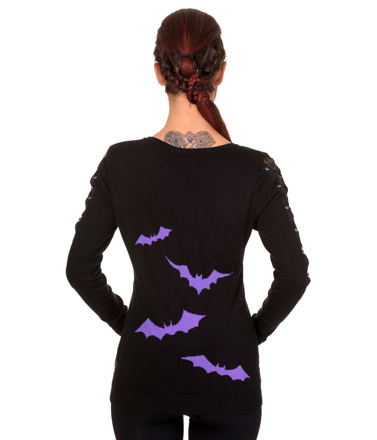 Banned Apparel Friction Gothic Bats Horror Jumper