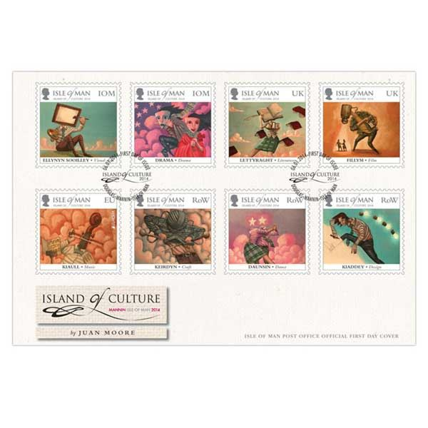 Isle of Man Stamps 2014 Island of Culture First Day Cover