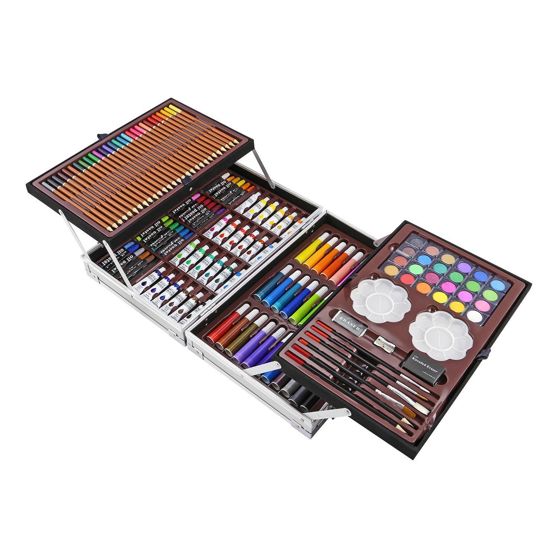 ArtBoss Artists Aluminium Art Case Colouring Pencils Painting Childrens//Adults