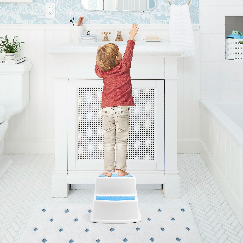 Kids Childrens 2 Step Stool Seat Toilet Training Potty Bathroom Kitchen Garage