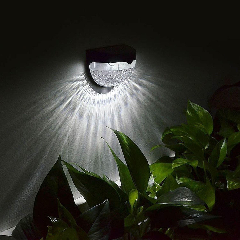Solar Powered Outdoor Garden Wireless Wall Door Step Fence Lights Lamp Lanterns