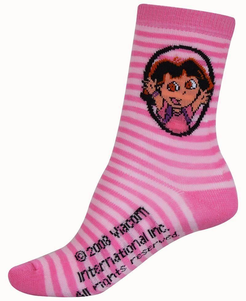 Girls DORA The Explorer Cotton Rich Cartoon Character Socks 3 Pairs Pack