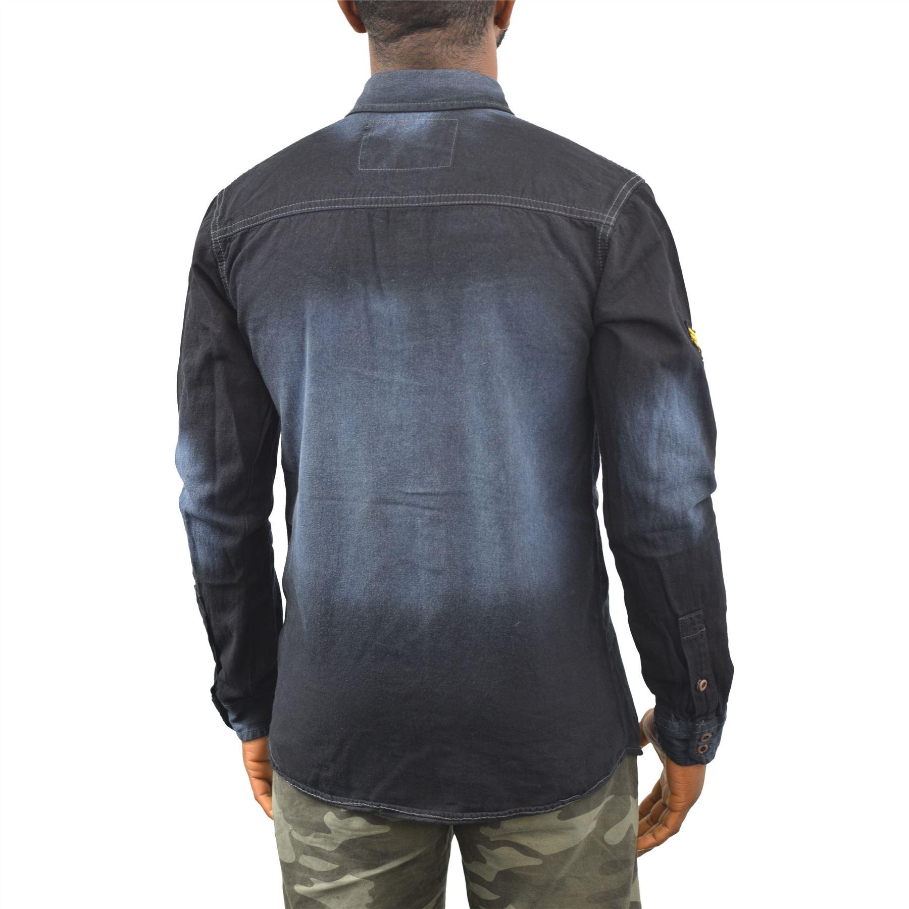 Camicia Denim Uomo succo rivenditore Top Casual