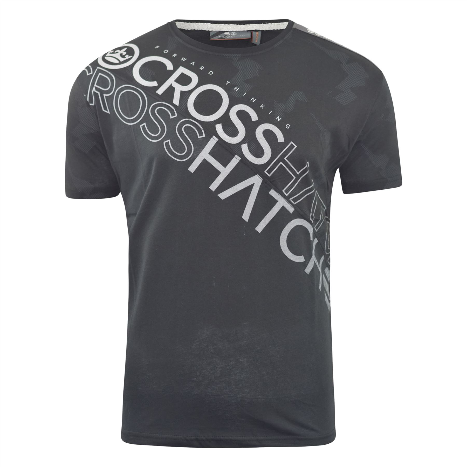 T-Shirt Homme CROSSHATCH Lot de 2 Tee Top