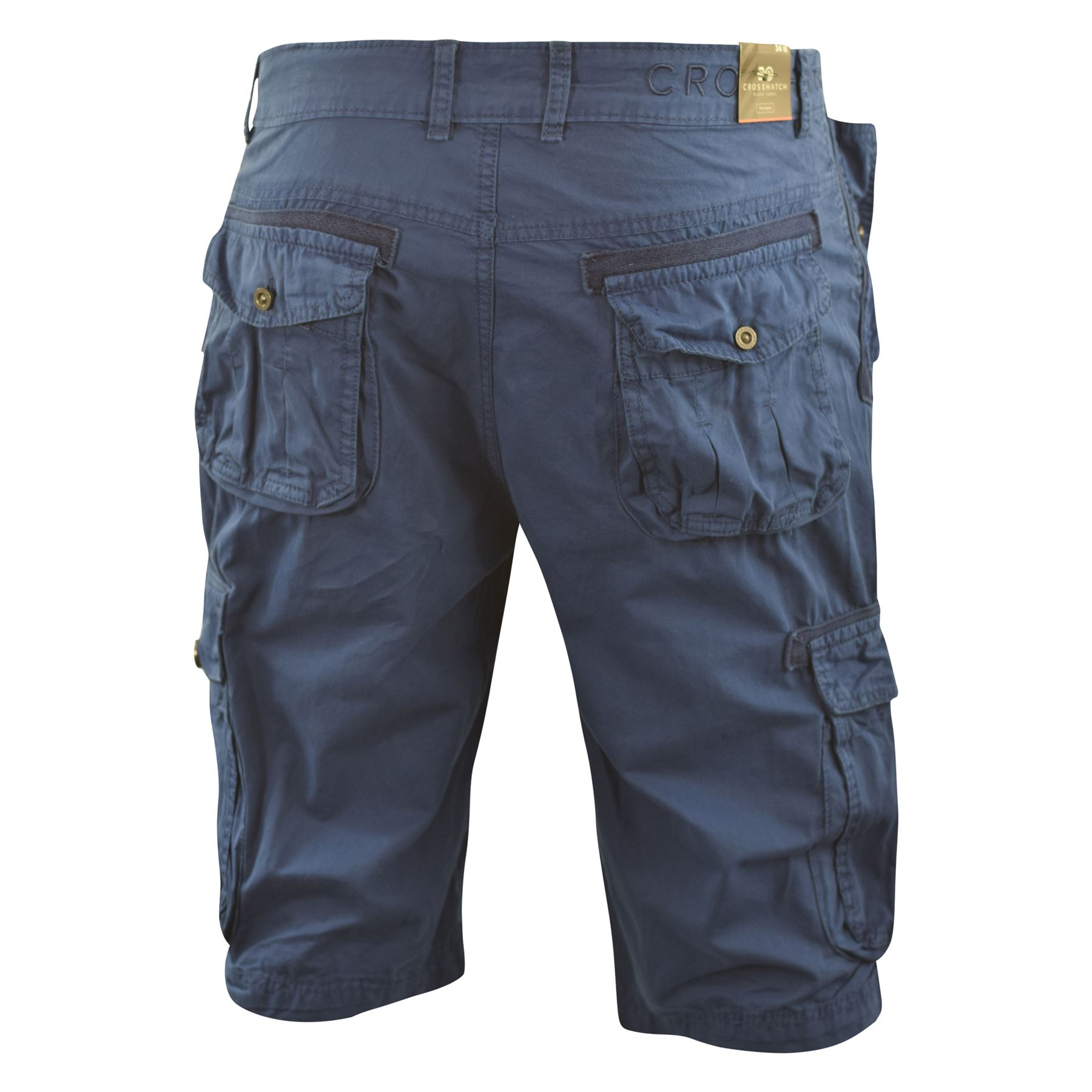 Mens Crosshatch Chinos Cargo Shorts Jeans Combat 3//4 Knee Length Mayfield