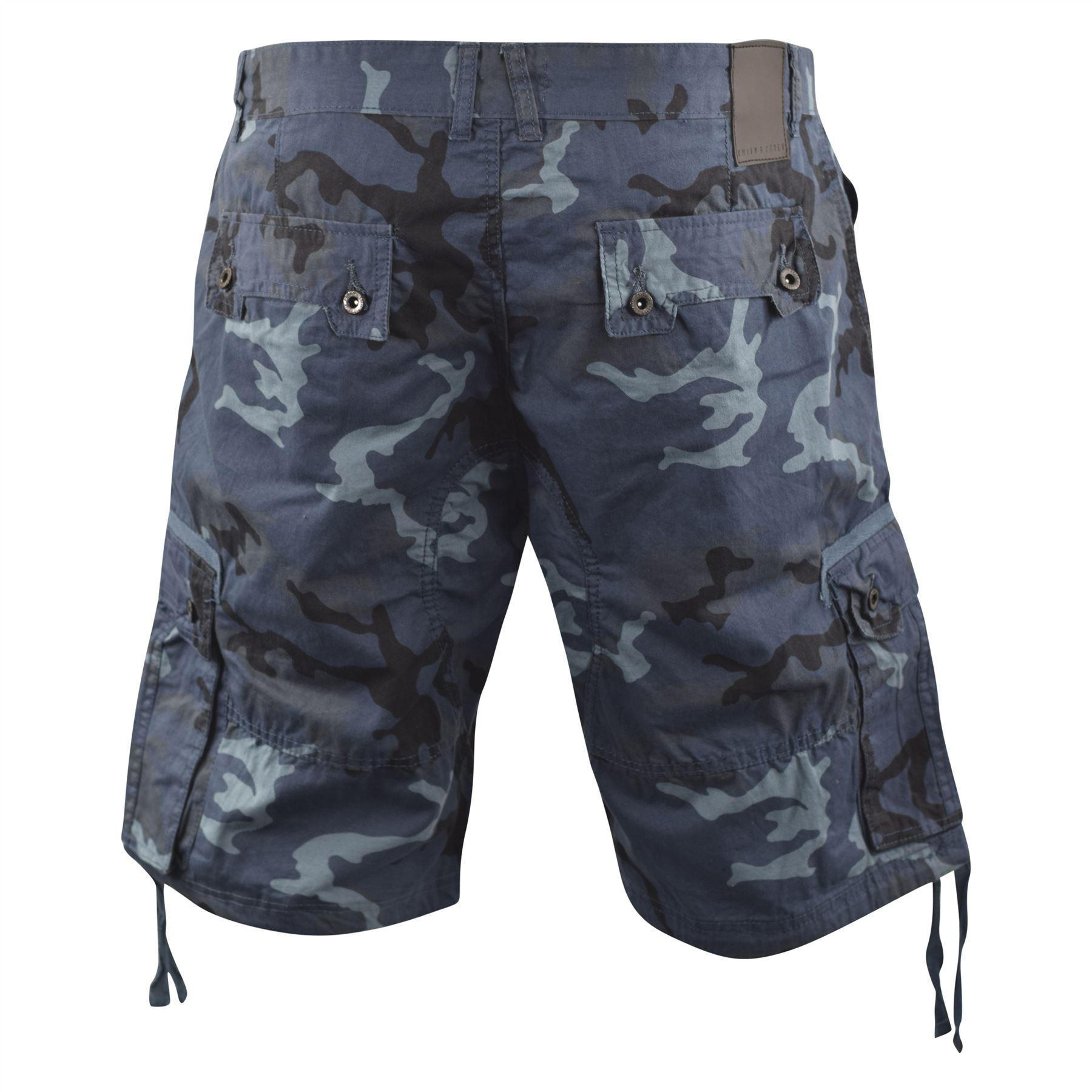 Mens Chambay Cargo Shorts Smith and Jones Camo Combat Summer Short