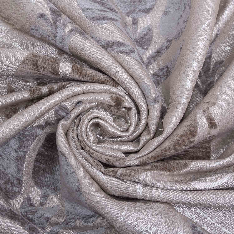 Satén de seda de viola floral del damasco Jacquard De Tela De Cortina De Terciopelo Doble Cara