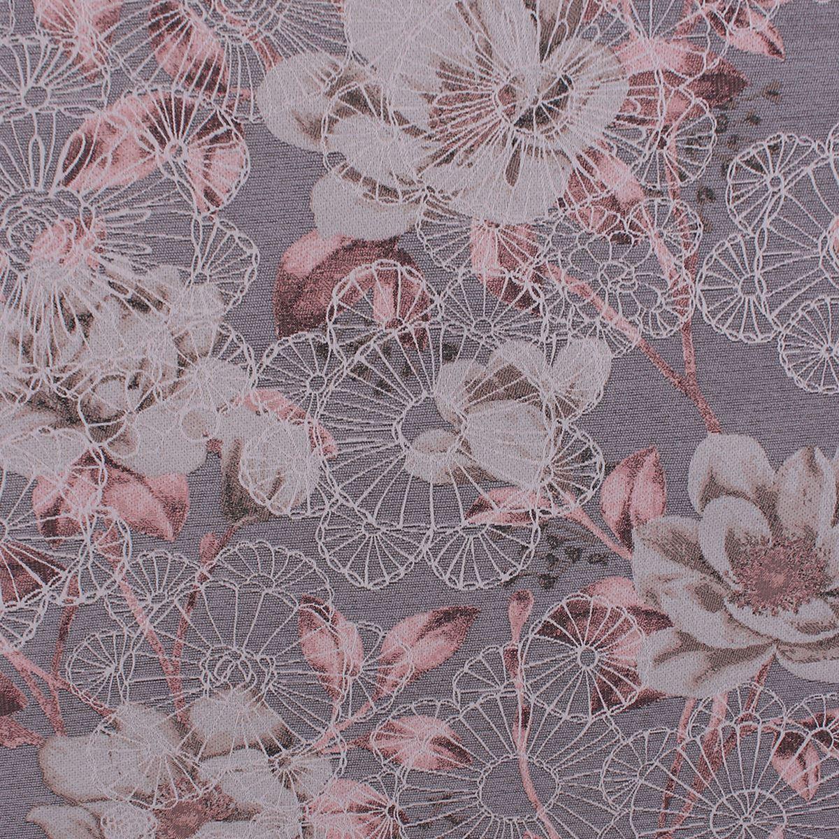 Quentin Tejido Jacquard Grandes Chenille Floral Rosa Bordado Tela de tapicería