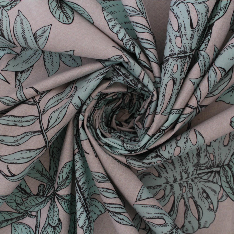 Myanmor Tropical exotique feuillu Bold Imprimé Floral Velours Velours Tissu