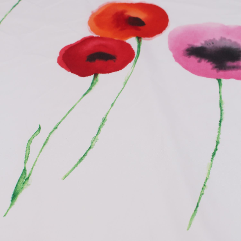 Sandersons Coquelicots Coton Aquarelle imprimé floral rideau ameublement tissu