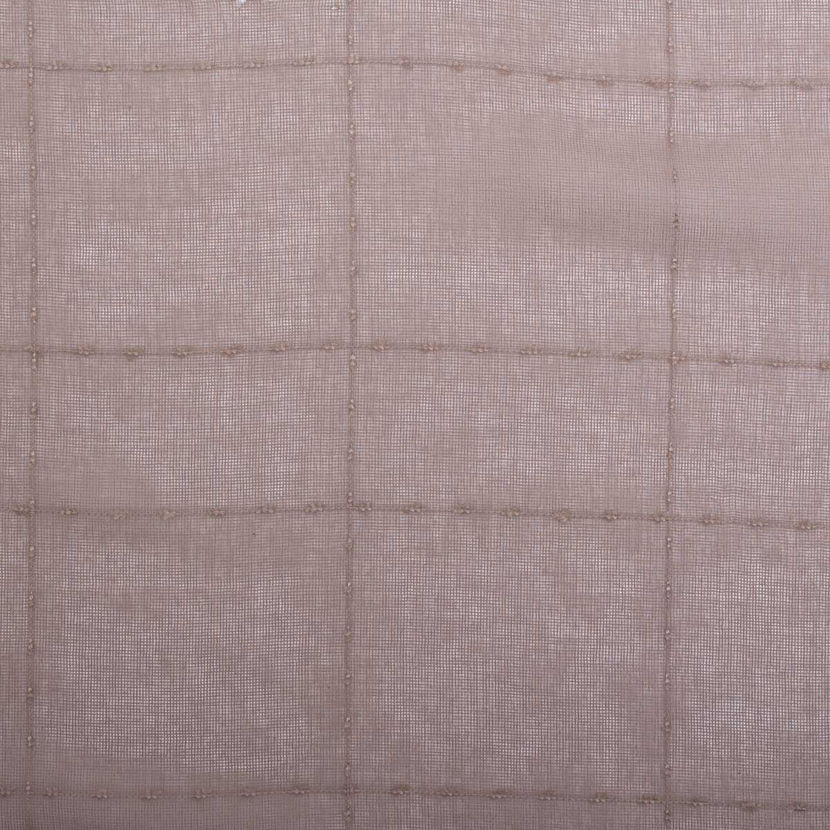 Embroidered Square Check Curtain Netting Voile Kitchen Mesh Window Fabric