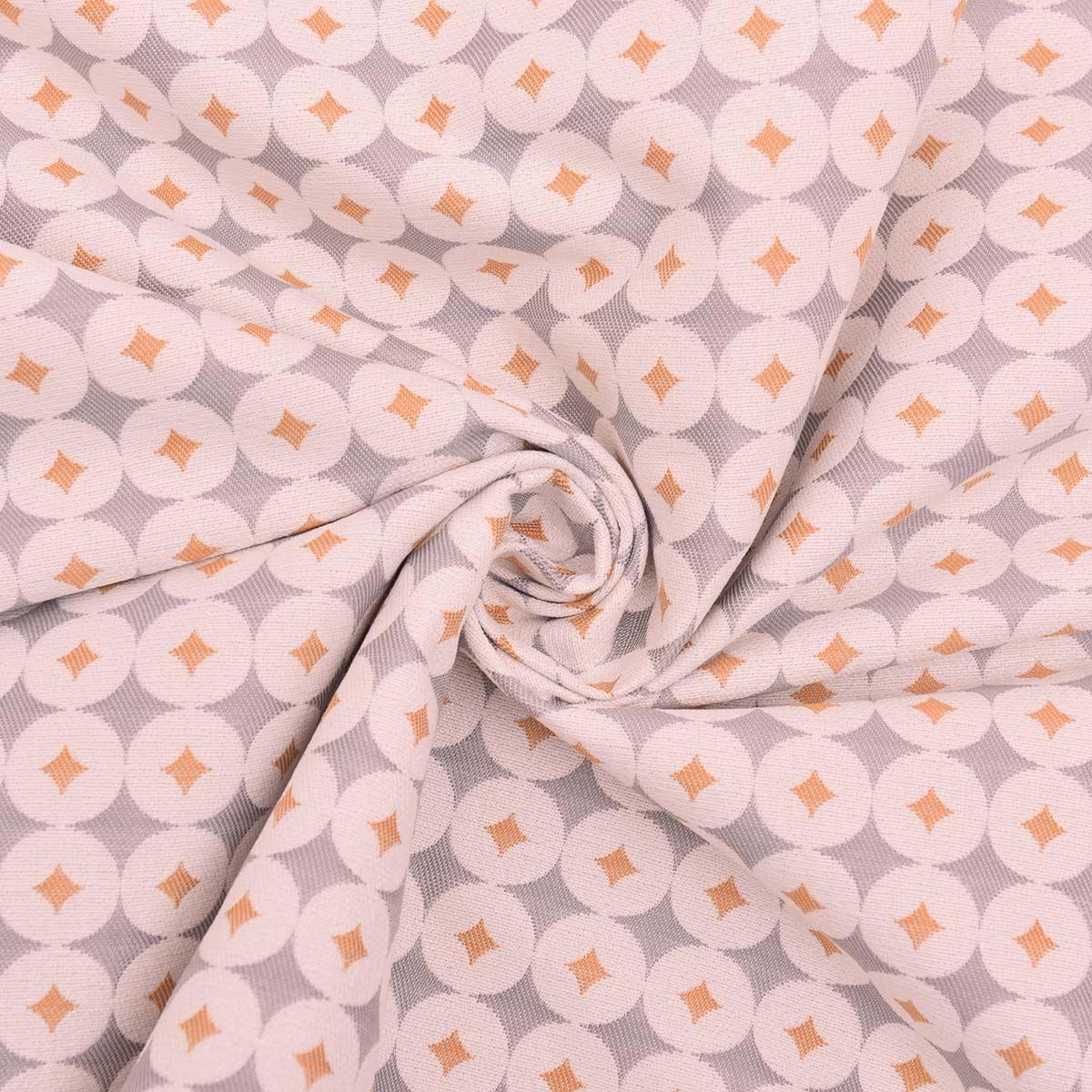 Retro Diamond Circle Luxury Thick Sofa Seating Curtain Upholstery Fabric