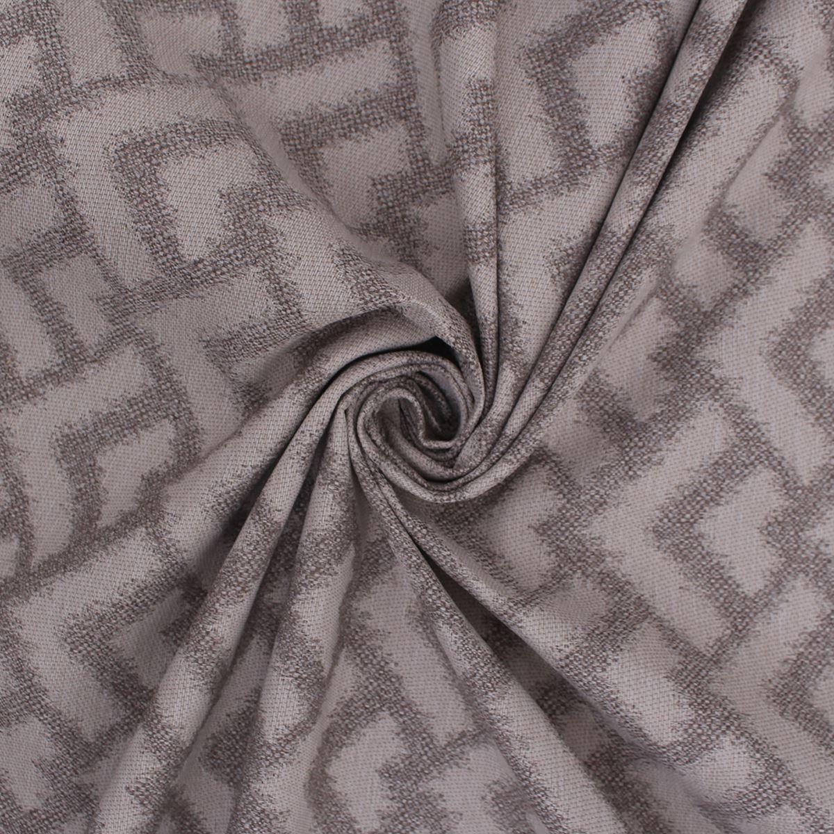 Cordoba Ardoise Naturelle échelles géométriques boudiné vieilli ameublement tissu