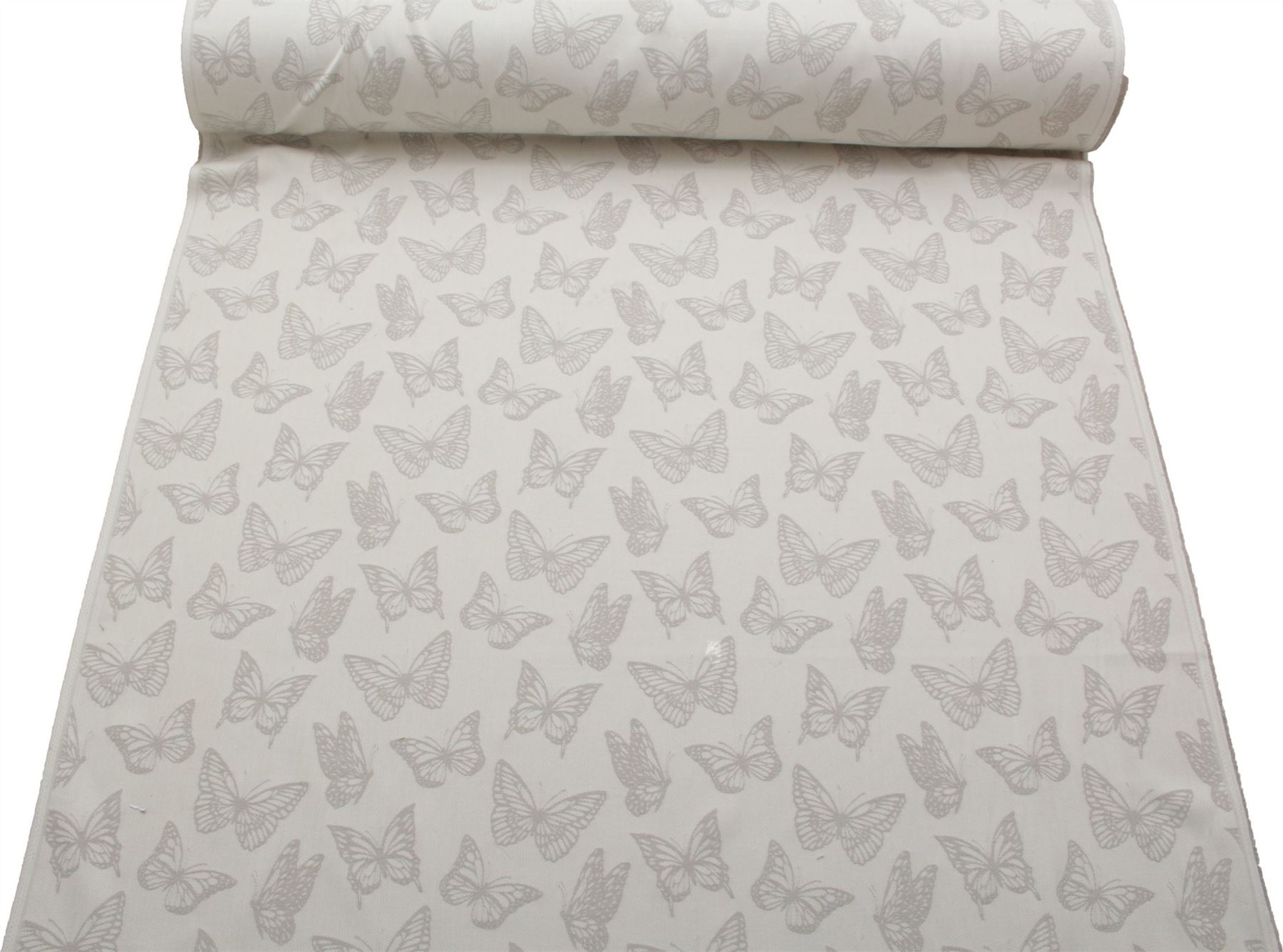 ASHLEY WILDE DESIGNER NATURAL COTTON BUTTERFLY CURTAIN CUSHION UPHOLSTERY FABRIC
