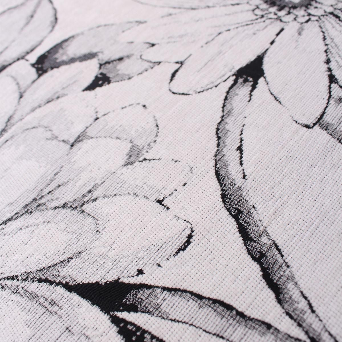 New York Woven Floral Monochrome Leaf Flowers Pattern Upholstery Fabric