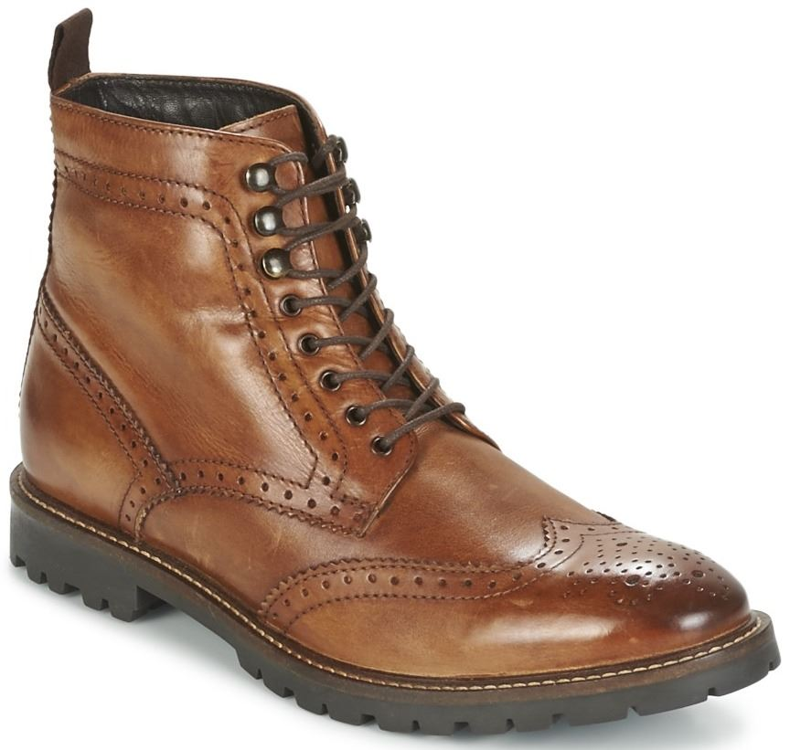 Base London Troop Tan Mens Mid Ankle Leather Hi Boots
