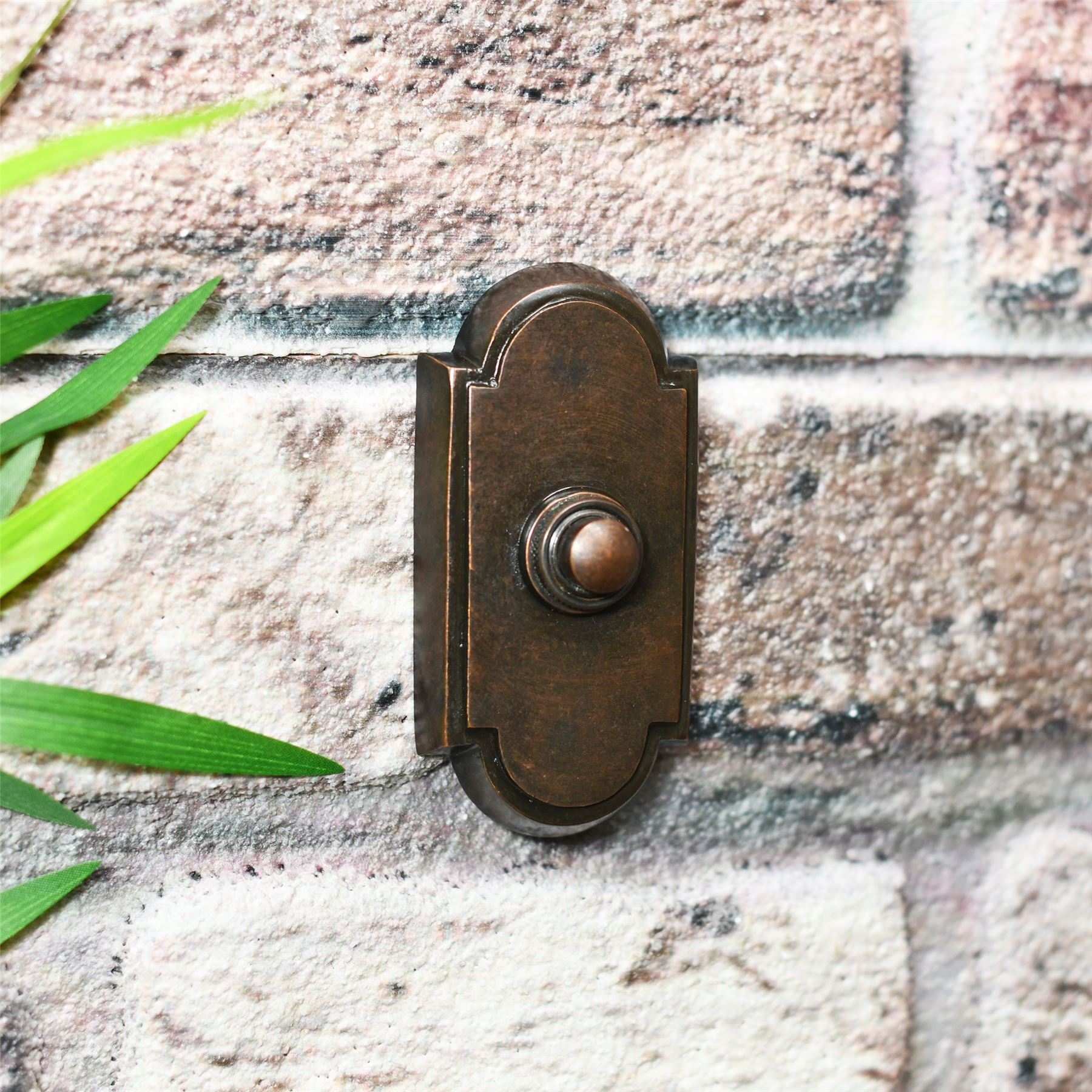 Davenport High Quality Solid Brass Bell Push Front Doorbell in Various Colours