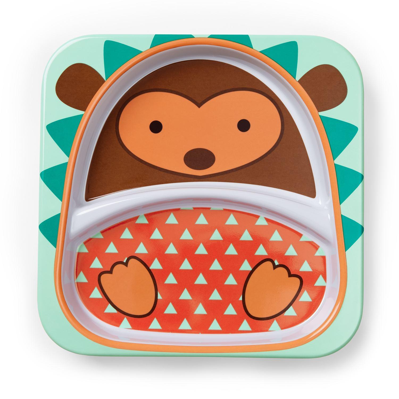Toddler//Kids Melamine Plate /& Bowl Skip Hop Zoo Tableware Sets
