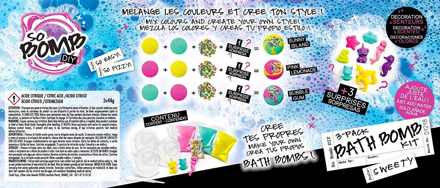 Canal Toys So Bomb Bath Sets Make Your Own Bath Bombs Gift Sets