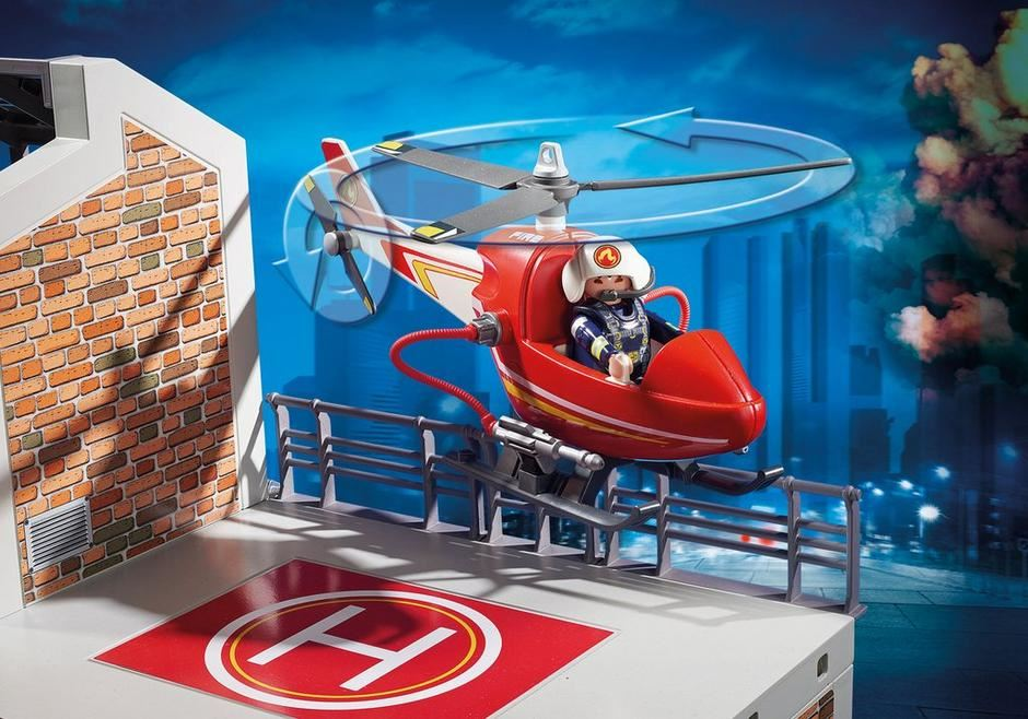 Playmobil City Action Fire Department Fire Station Truck /& More Engine