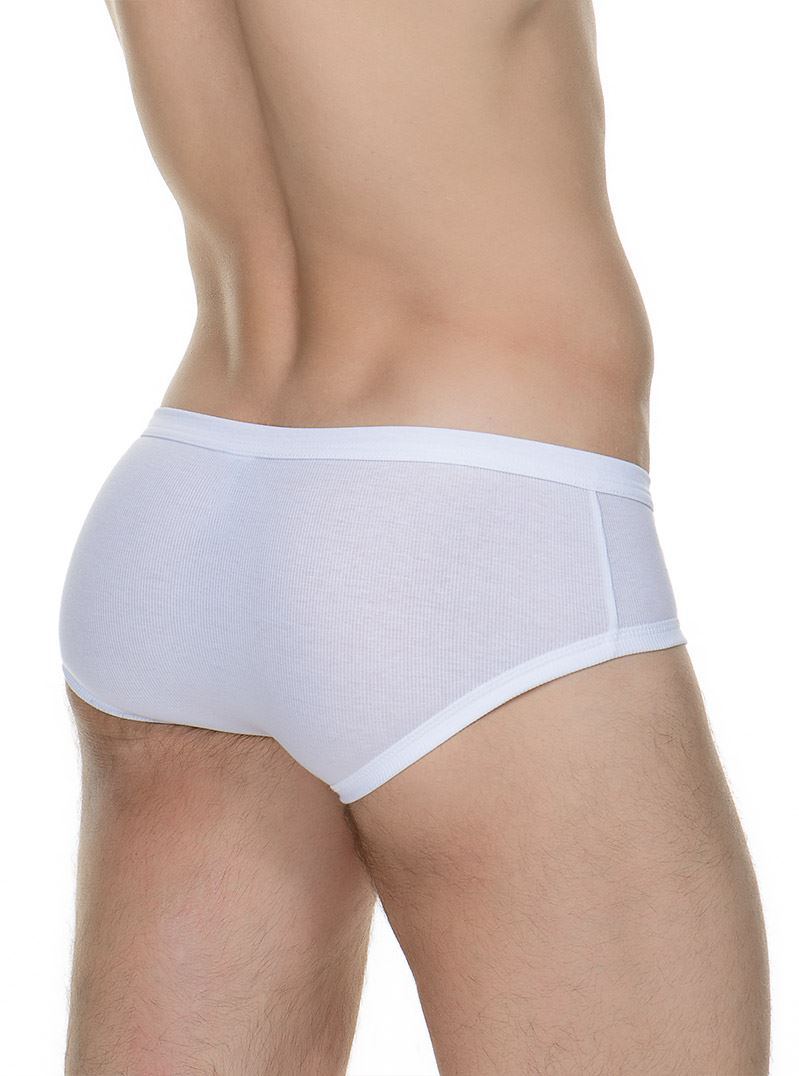 Bruno Banani Mens Cotton Line Retro Brief Ribbed Underwear SALE RRP £21