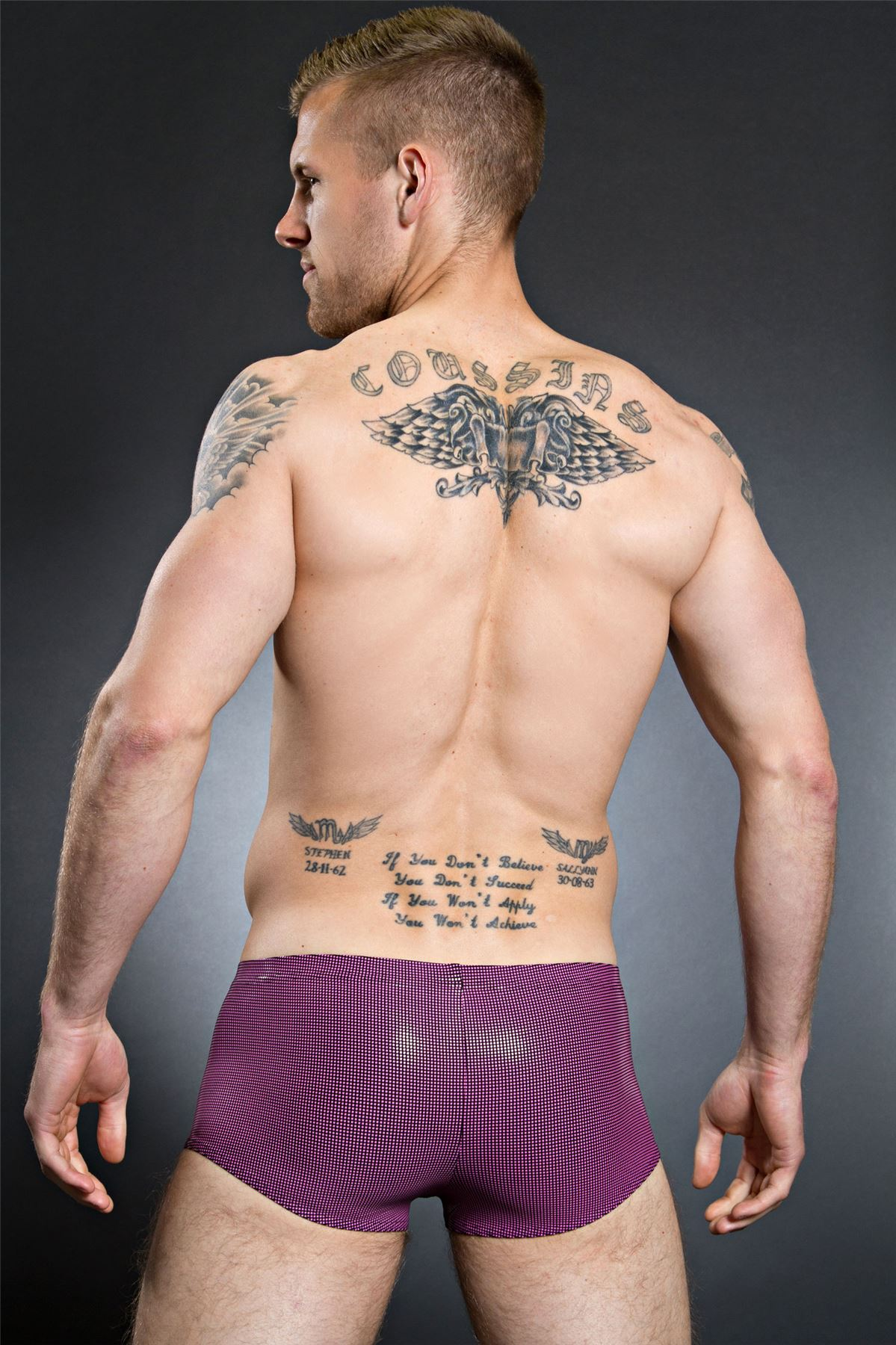 """Body Art XL//38/"""" Bono Mini Pantalón Boxer para hombre Sparkley Diseñador Rrp £ 32"""