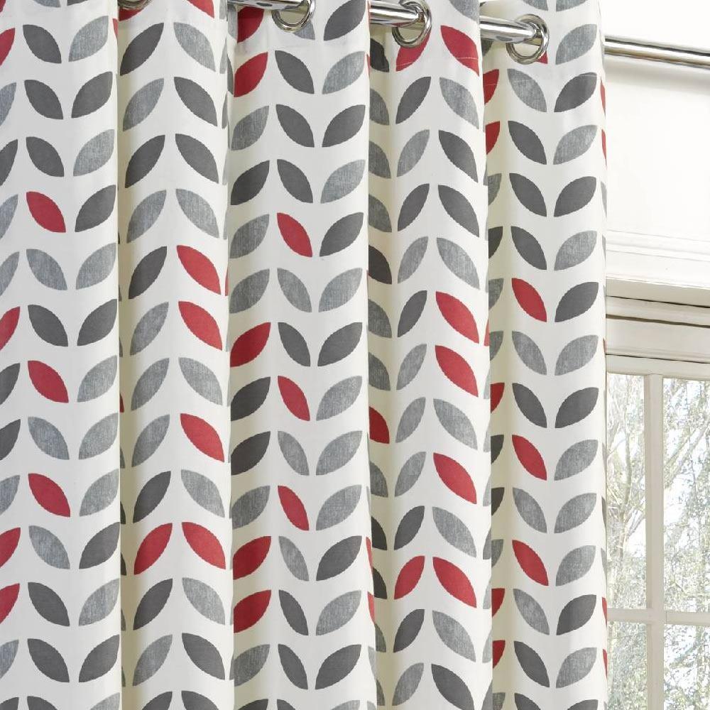 White geometric curtains