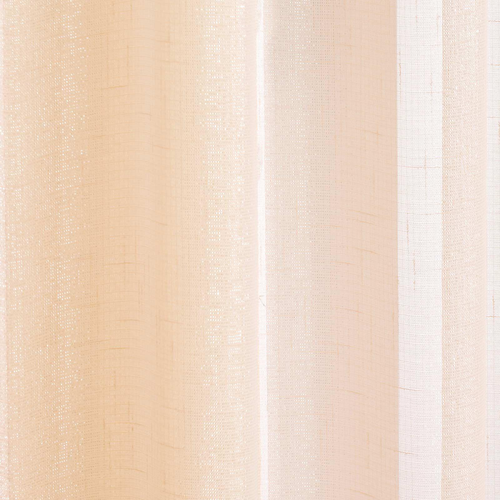 Casablanca Voile Curtain Sparkle Metallic Slot Top Panel Rod Pocket Sheer Voiles