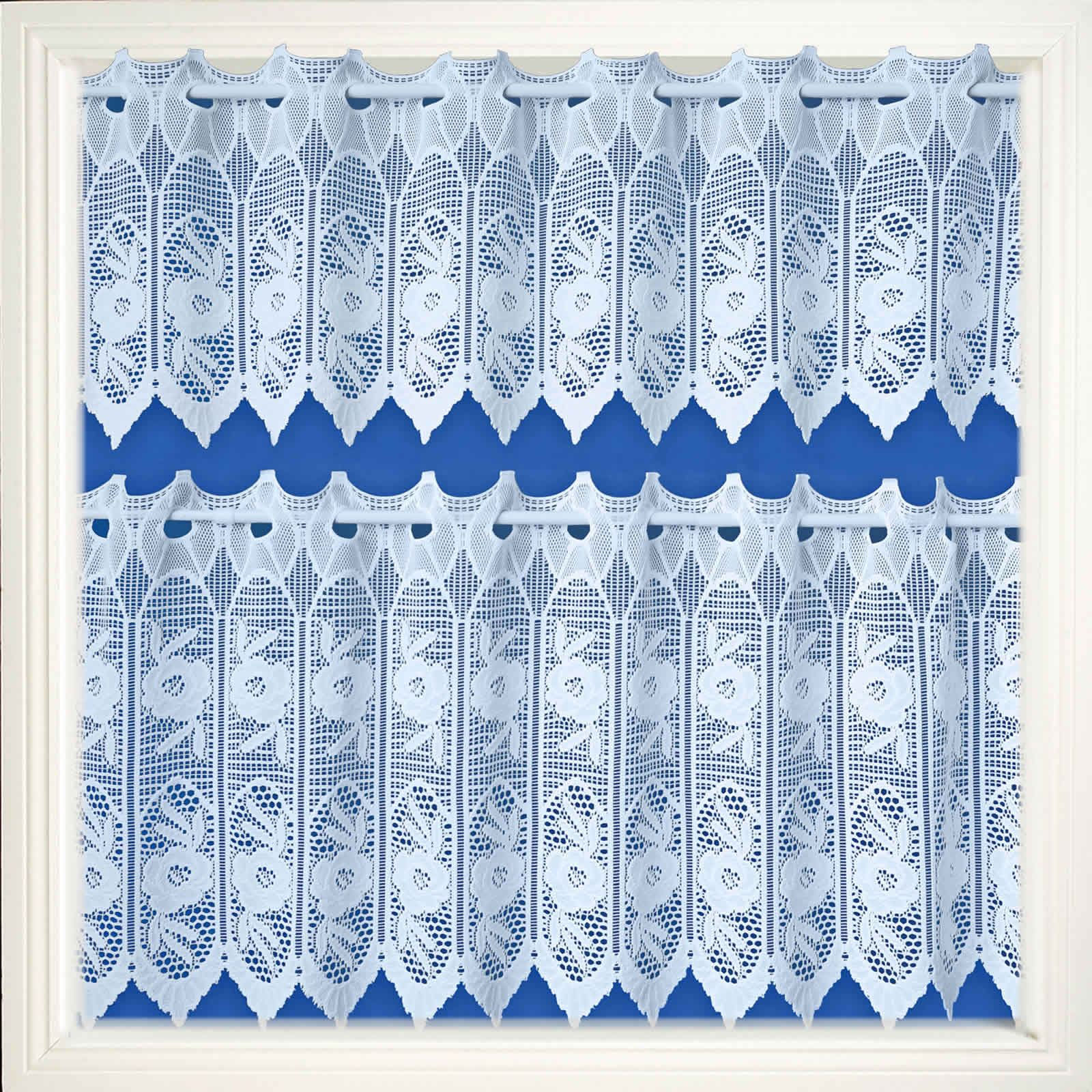 Lace panel curtains