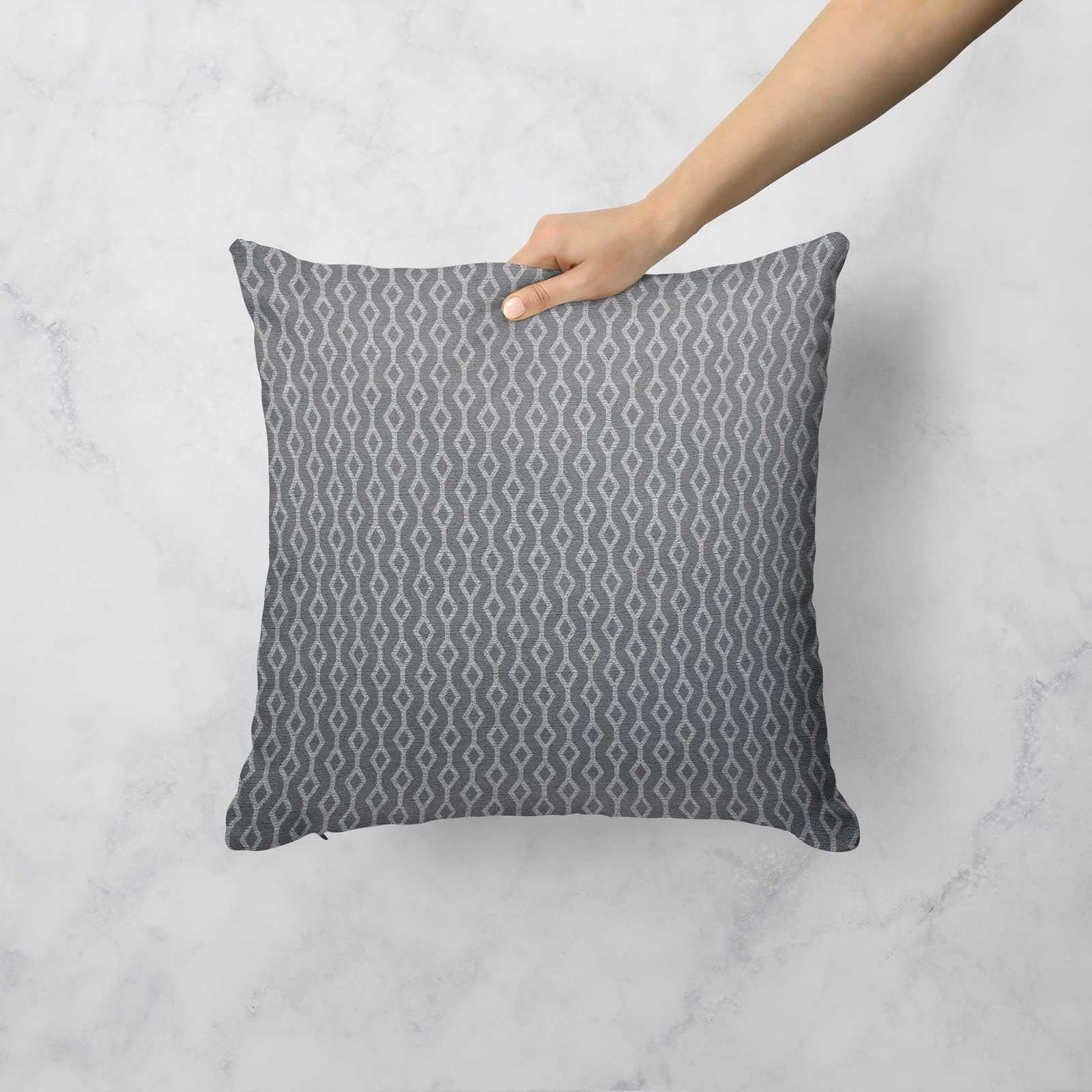 """Mustard Ochre Grey Cushion Covers 17/""""//18/"""" Cover Filled Cushions Collection"""