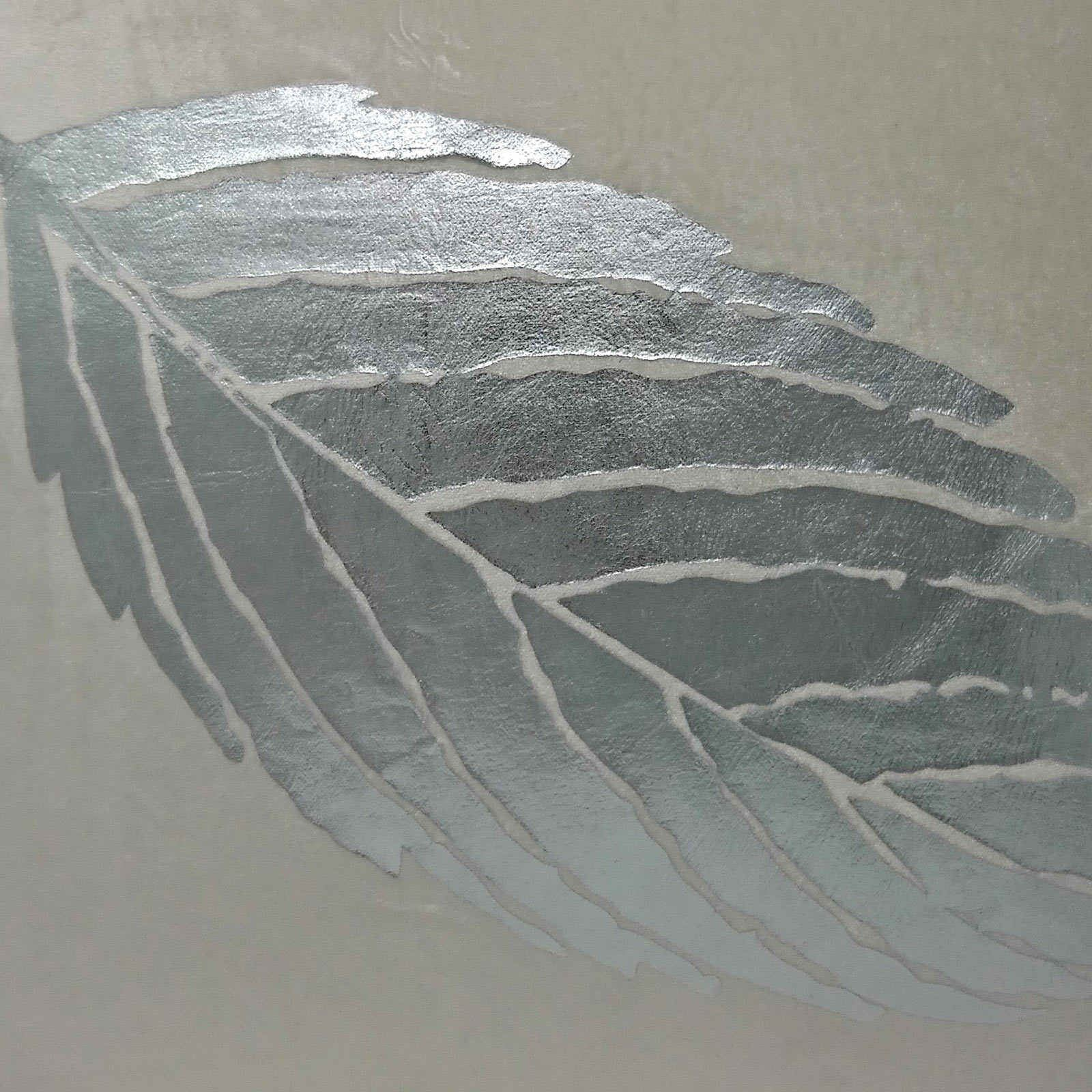 "Mimosa Velvet Cushion Cover Luxury Metallic Leaf Print Cushion Covers 18/"" x 18/"""