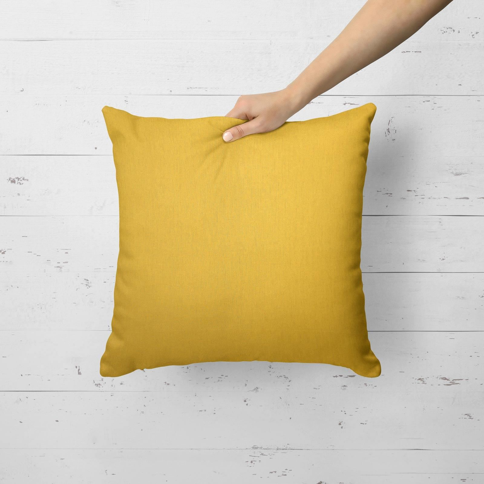 """Grey Ochre Mustard Cushion Cover Collection 17/""""//18/"""" Covers Filled Cushions"""