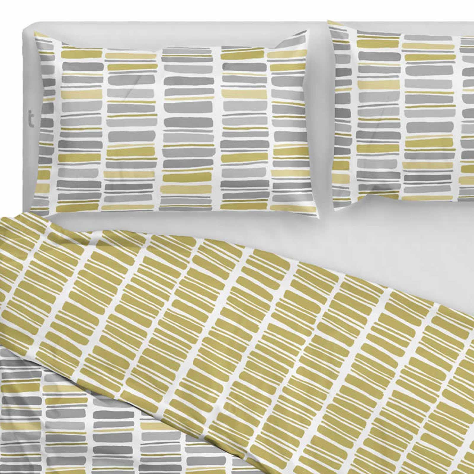 Fundas nórdicas Saturn rayas impresión geométrica Reversible conjuntos de ropa de cama de algodón para edredón