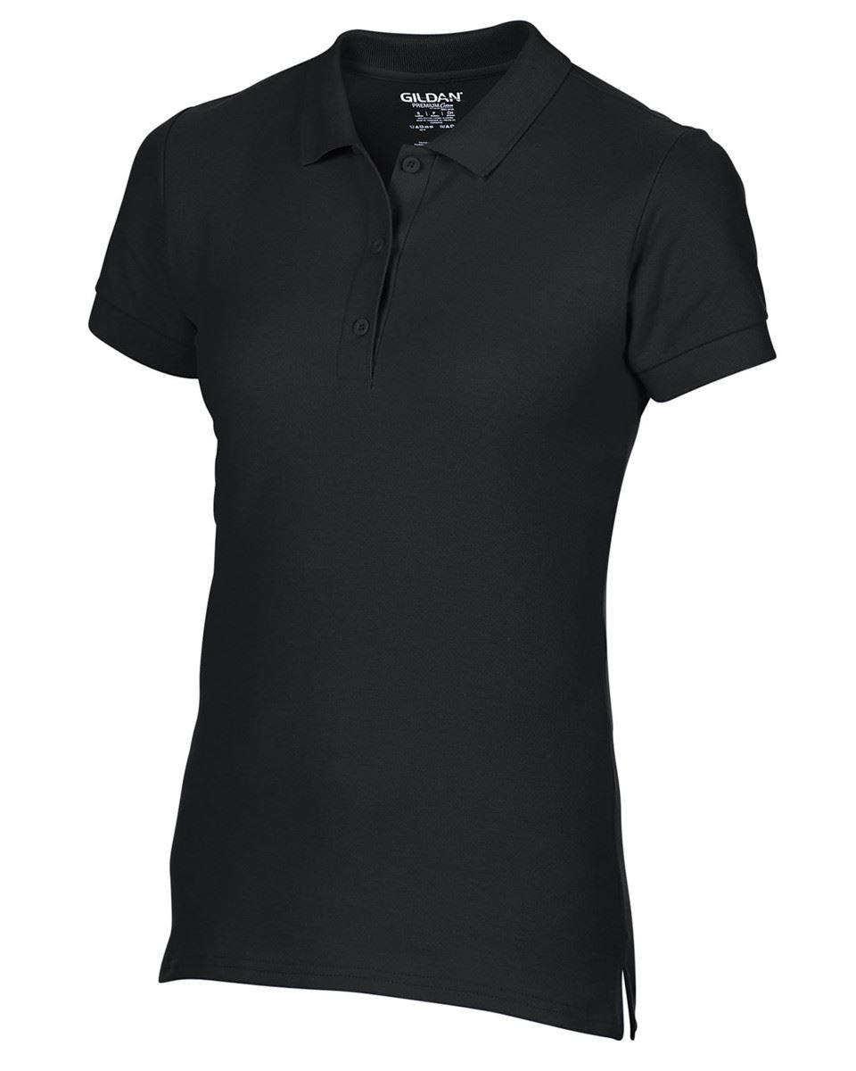 Gildan Femme Premium Coton Sport cadat Col Polo Shirts T-Shirt