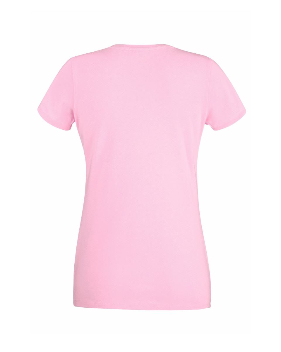 NEW WOMENS LADY FIT FRUIT OF THE LOOM CREW NECK PLAIN SHORT SLEEVE T-SHIRT 8-18