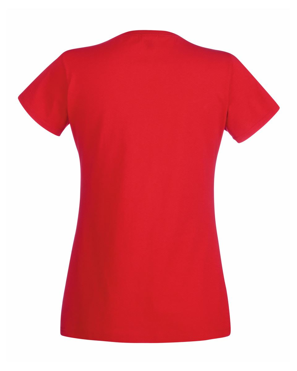 Fruit of the Loom Womens Lady-Fit T-Shirt Valueweight Plain Blank T Shirt Top