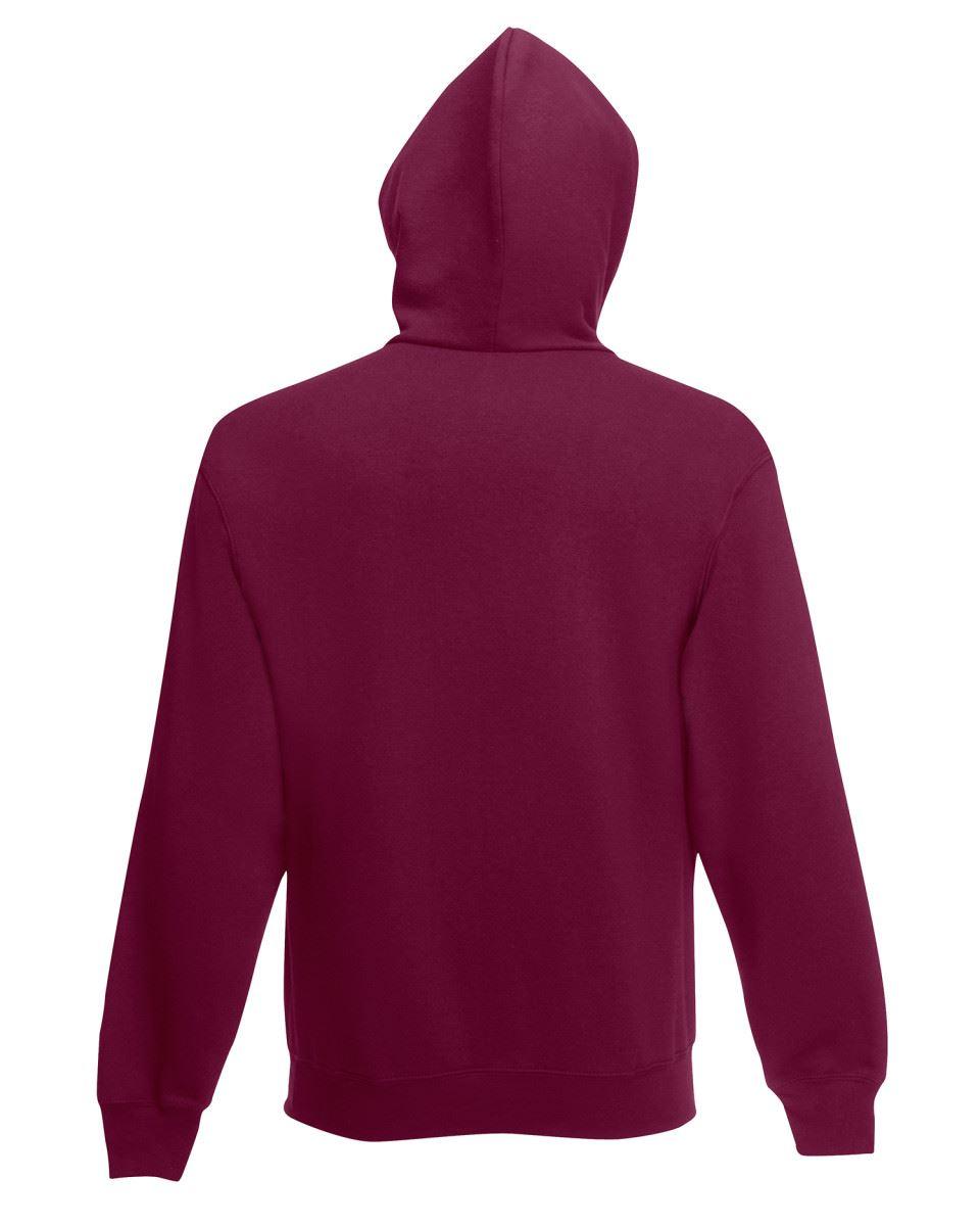 Fruit of the Loom HOODIE Sweatshirt Hoody Jumper Plain Top Sweater Hooded