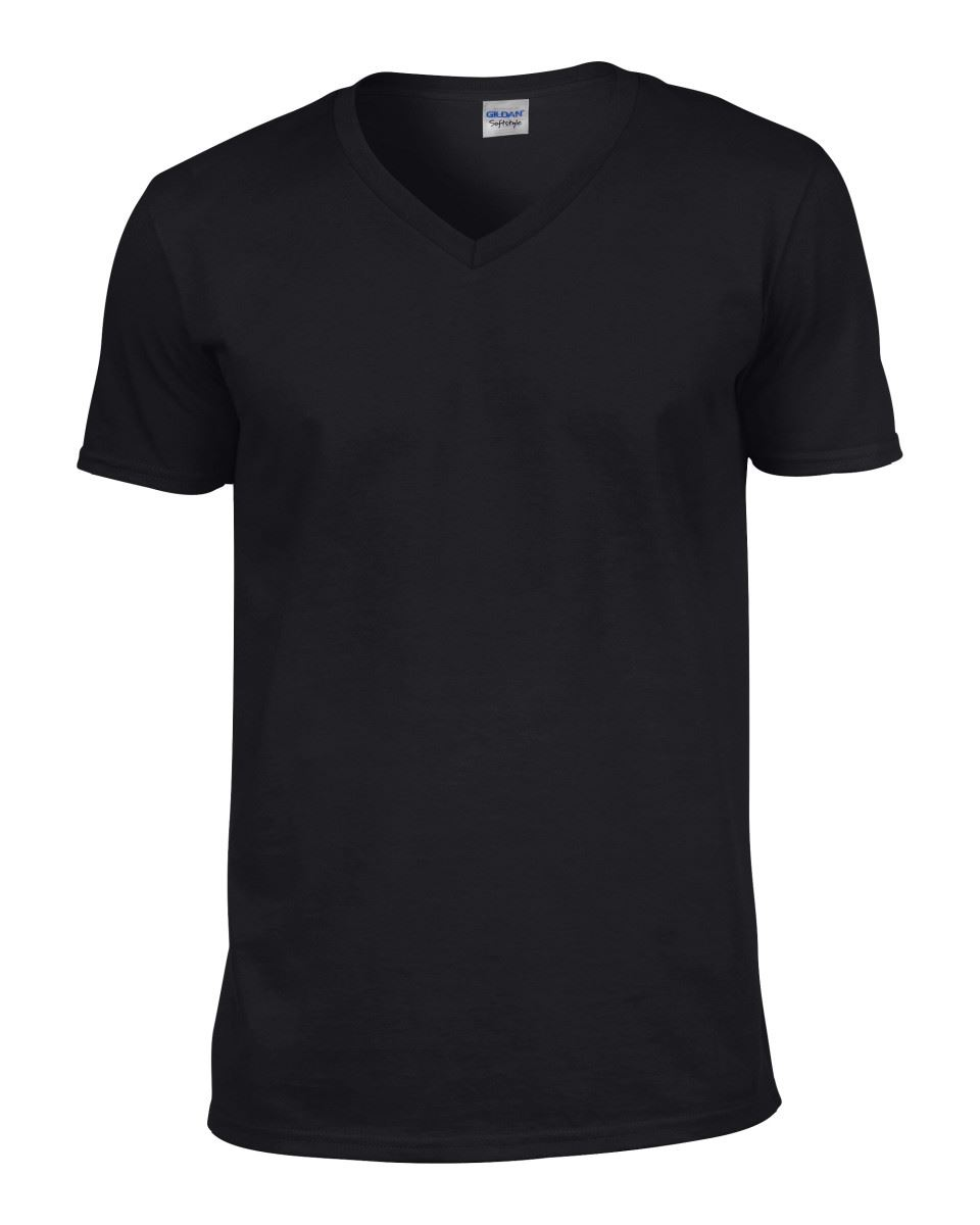 Gildan Mens Men/'s Soft Style Plain V-Neck T-Shirt Cotton Tee Tshirt