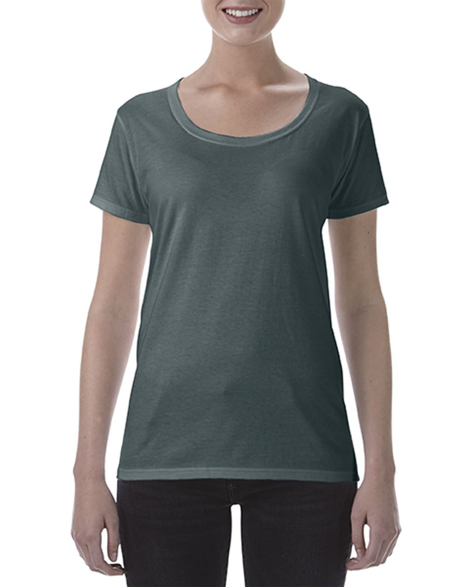 Gildan Ladies Deep Scoop Plain Crew Neck T-Shirts 100/% Cotton