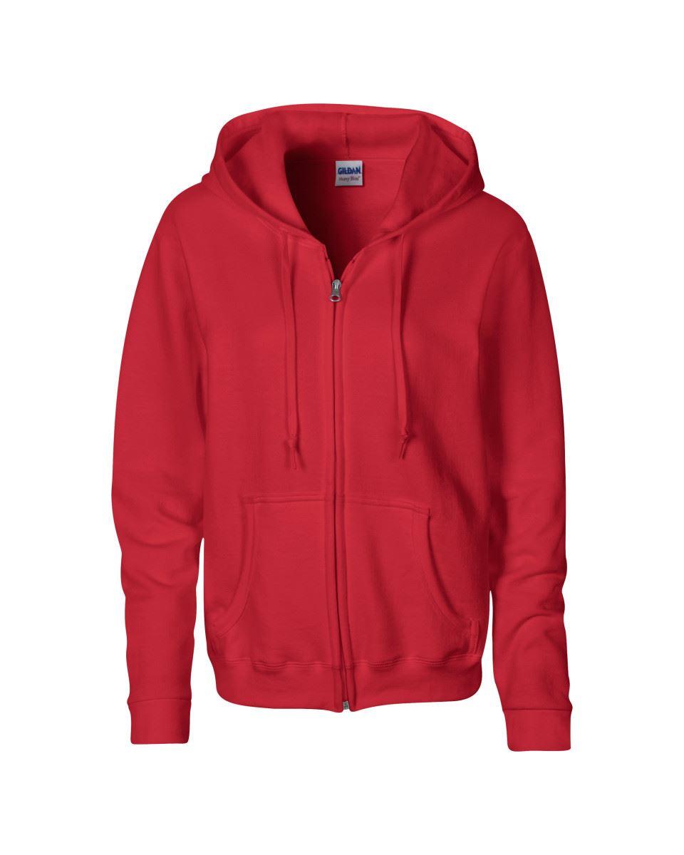 Gildan Heavy Blend Ladies/' Fulll Zip Hood Sweat Zipped Hooded Sweatshirts Plain