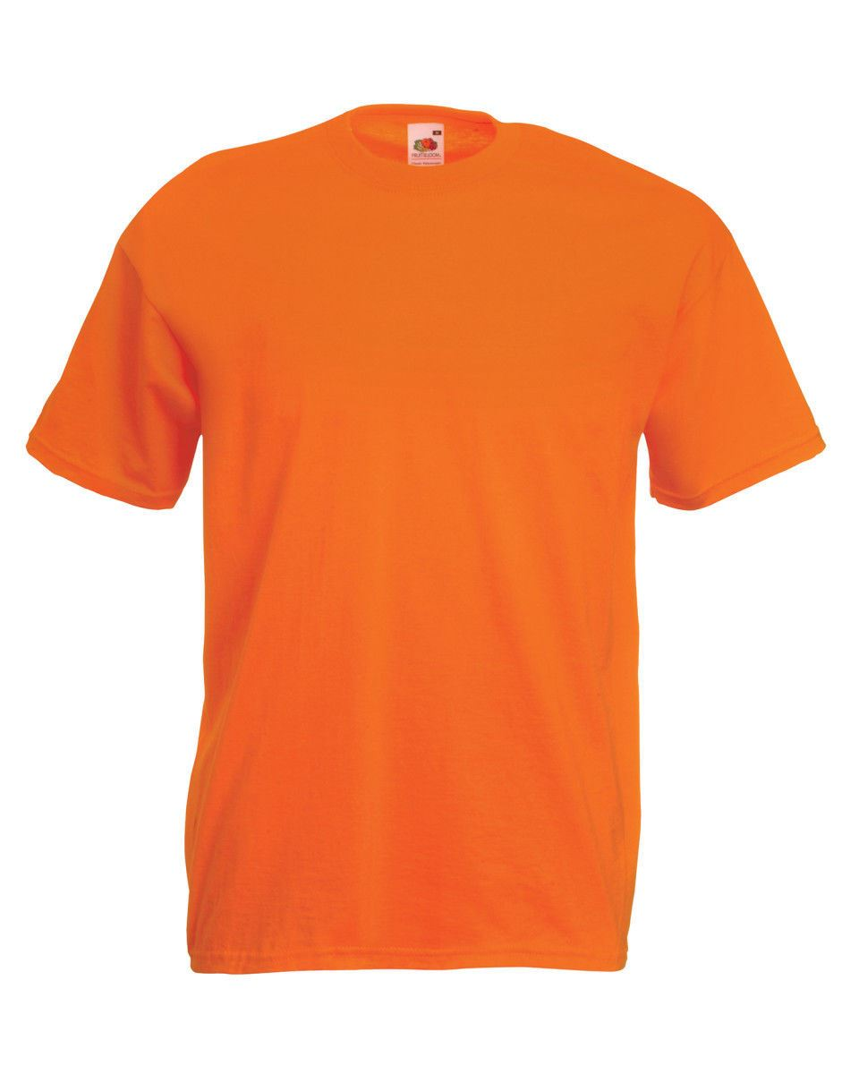 Fruit of the Loom Cotton Plain Blank Men/'s Women/'s Tee Shirt Tshirt T-Shirt NEW