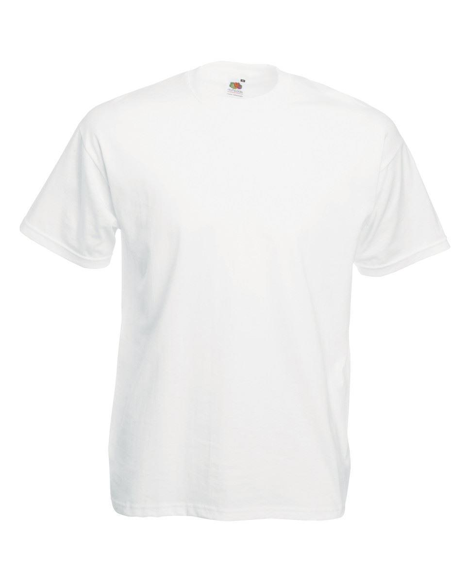 1 3 5 10 20 PACK FRUIT OF THE LOOM WHITE MENS 100/% COTTON PLAIN MENS T-SHIRT LOT
