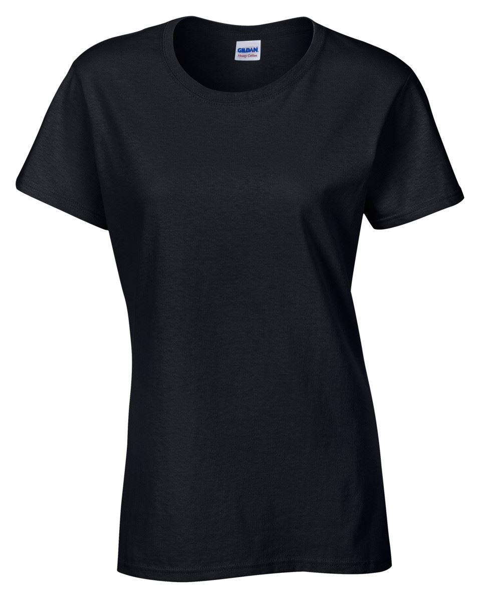 Gildan Ladies Heavy Cotton Plain Missy Fit T-Shirt Tshirts Tee