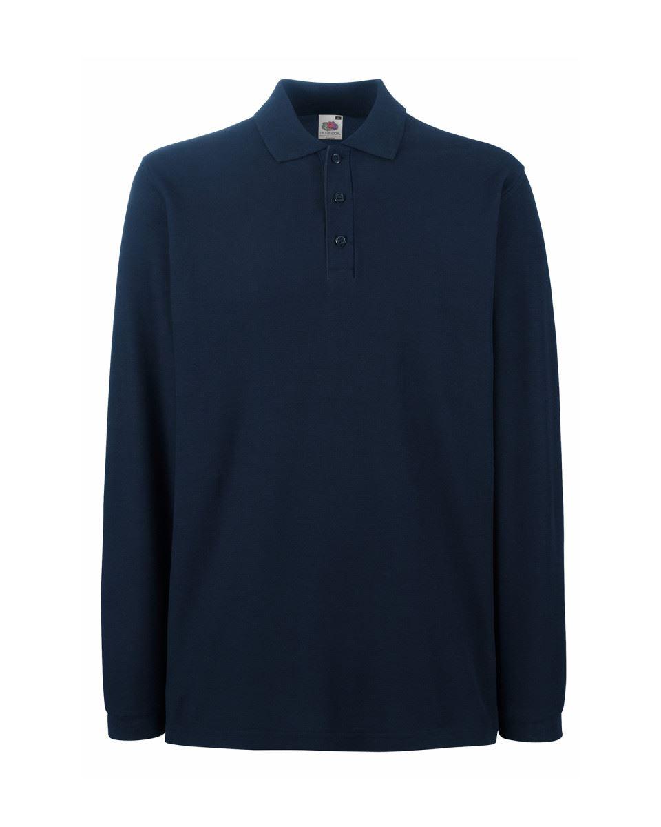 Fruit Of The Loom Mens Premium Plain Cadat collar Polo Shirts T-shirt