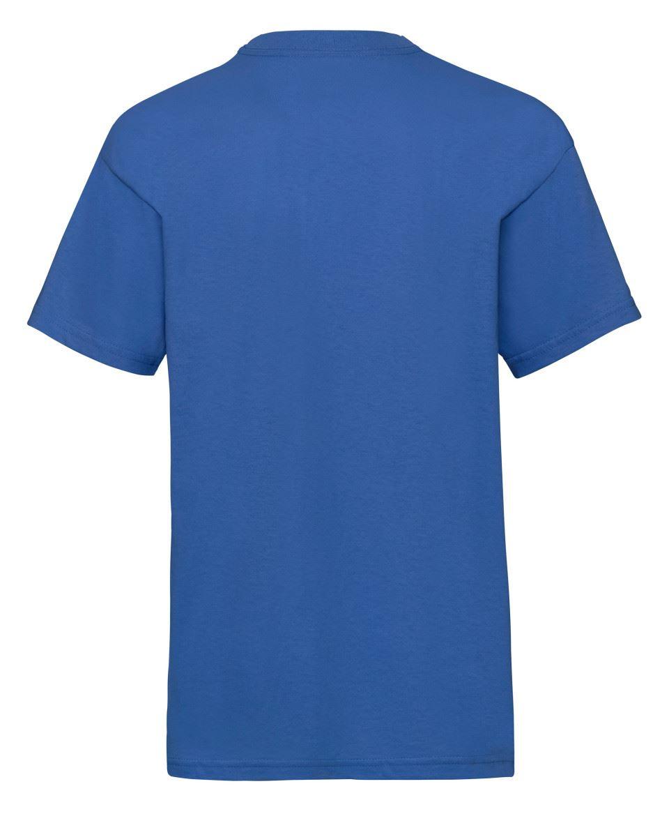 Plain Blue Fruit of the Loom Cotton Childrens Kids Boys Girls T Shirt Tee
